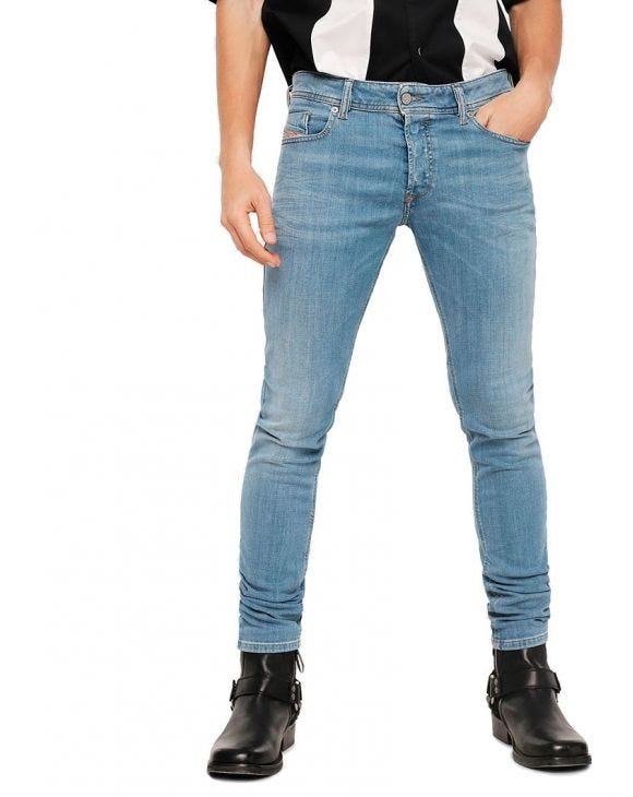 SLEENKER L.32 SKINNY JEANS IN BLUE DENIM