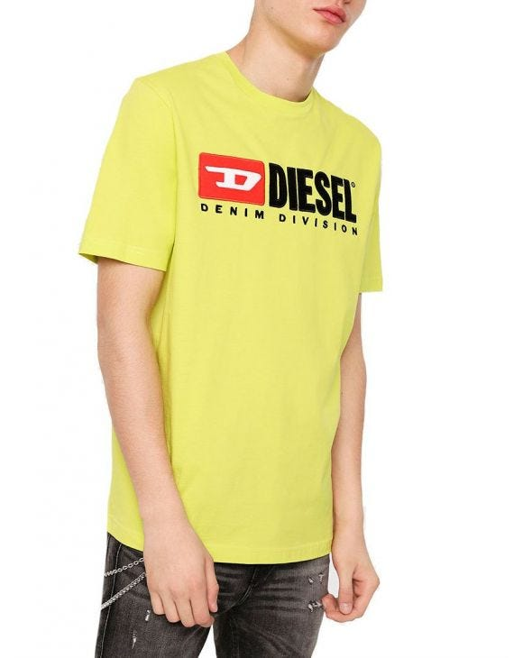 T-JUST-DIVISION T-SHIRT IN YELLOW