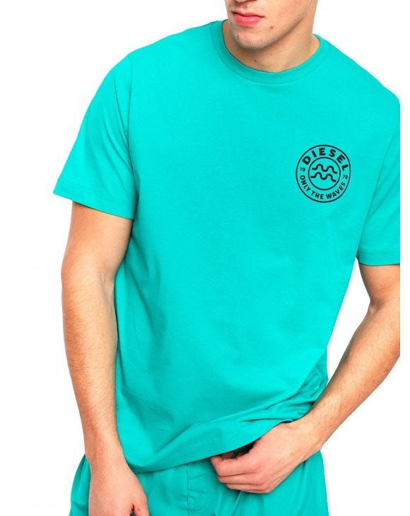 BMOWT-JUST-B PRINTED T-SHIRT IN LIGHT GREEN