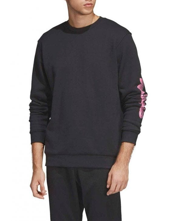 GRAPHIC CREW SWEATSHIRT IN BLACK
