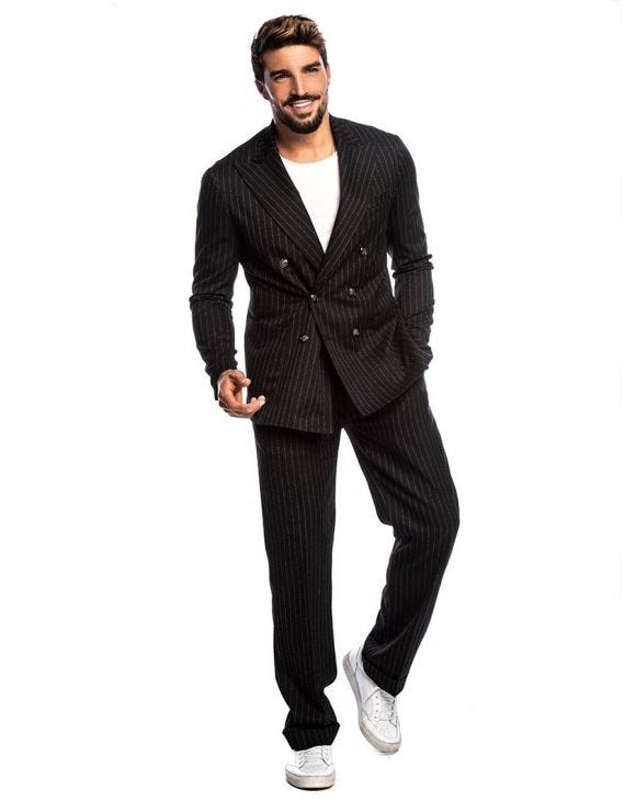JOSEPH DOUBLE BREASTED SUIT IN BLACK