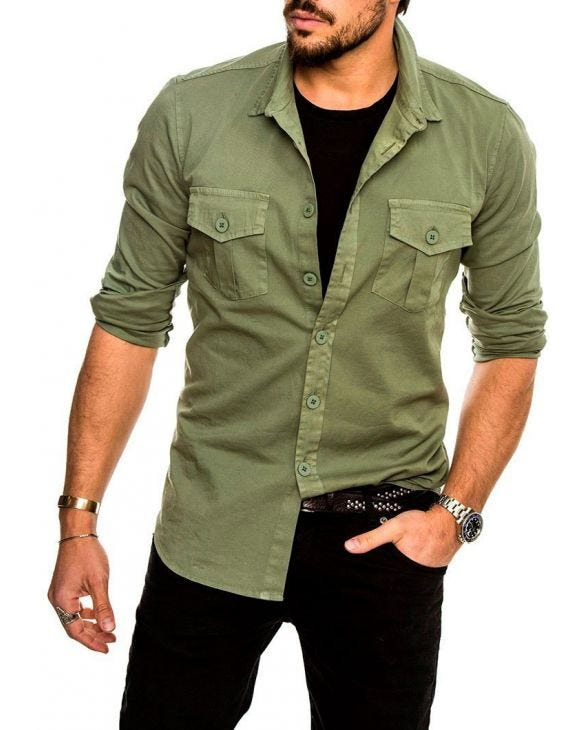 GIBSON CASUAL SHIRT IN GREEN