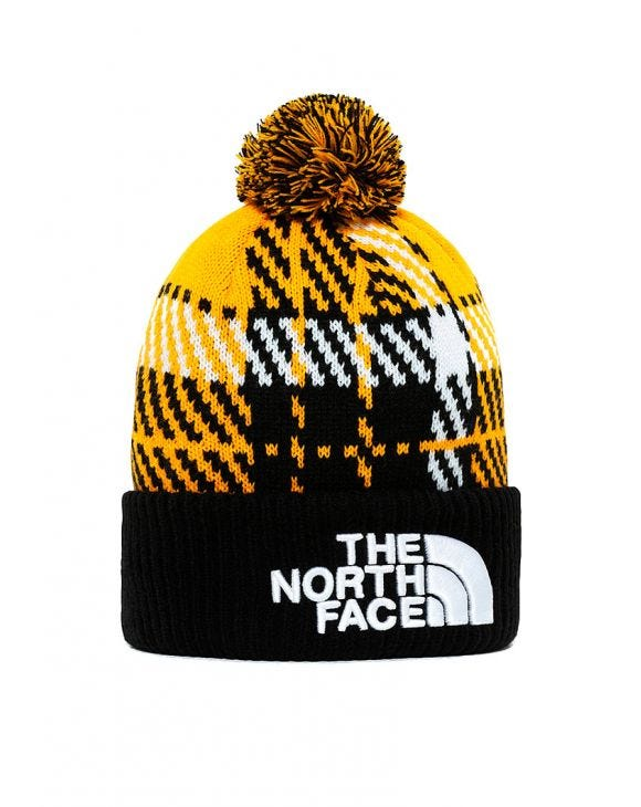 RETRO TNF POM BEANIE IN YELLOW