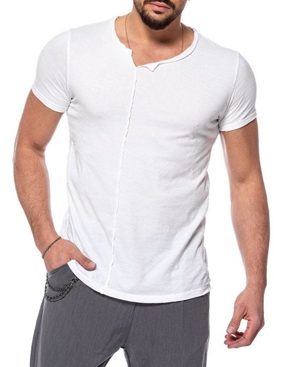 TREVOR BASIC T-SHIRT IN WHITE