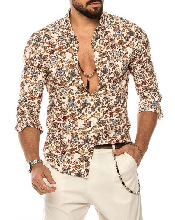 FLORAL PRINTED SHIRT IN MULTICOLOR