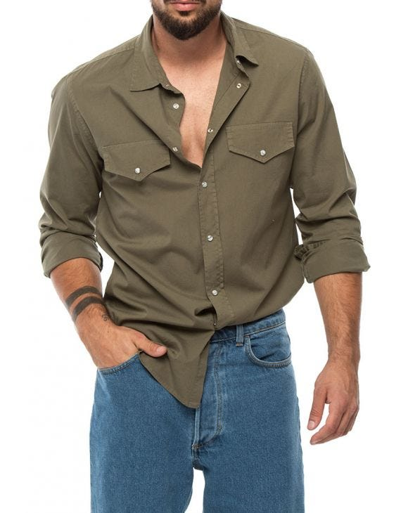 TYLER POCKET SHIRT IN ARMY GREEN