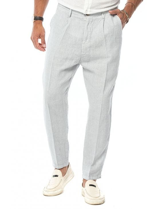 ETHAN CASUAL PANTS IN PEARL
