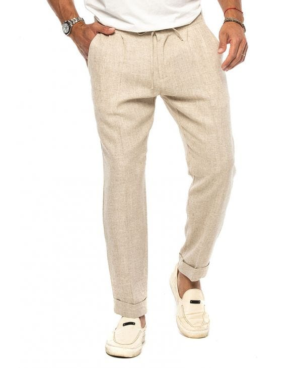 COLTON CASUAL PANTS IN SAND