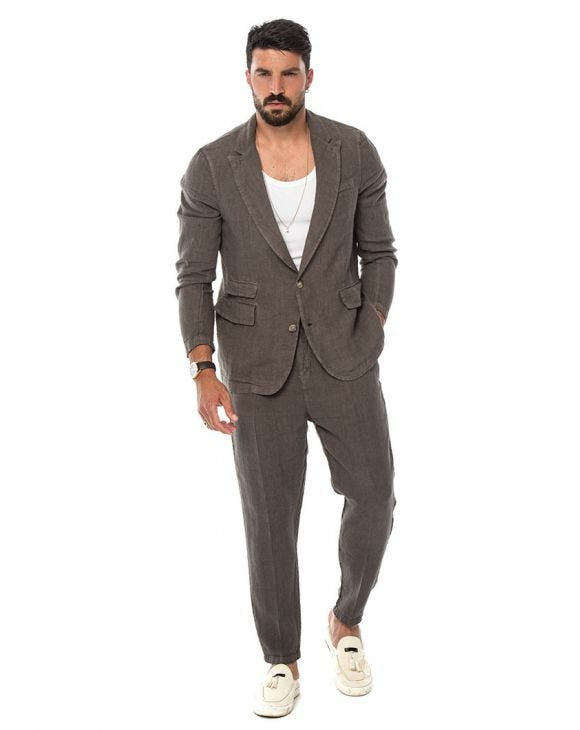 DAXTON SINGLE BREASTED SUIT IN MUD
