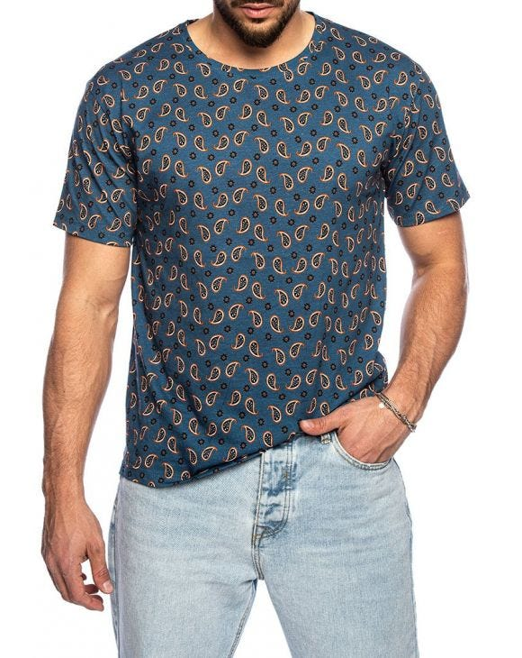 PAISLEY T-SHIRT IN BLUE