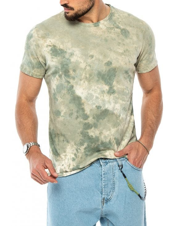 ALAN PRINTED T-SHIRT IN GREEN