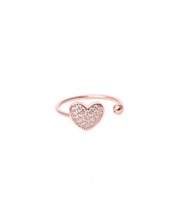REB HEART RING IN ROSE GOLD