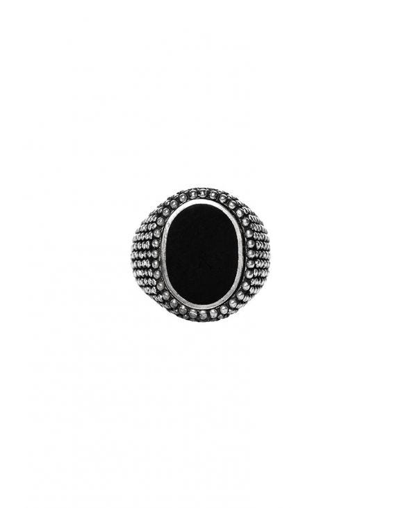 OVOID DOTS ANELLO IN ARGENTO