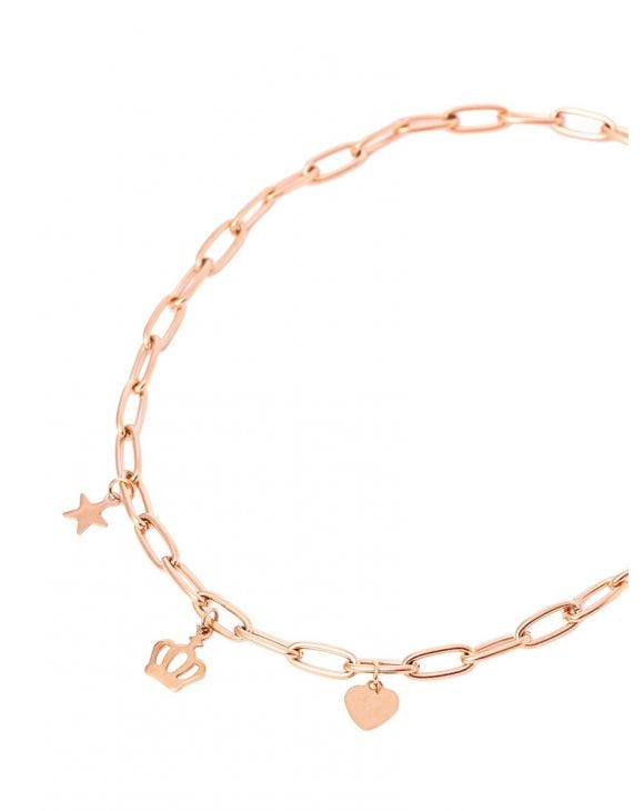 VIVIAN CHAIN NECKLACE IN ROSE GOLD COLOR