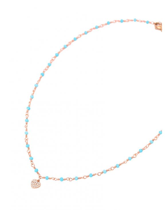 CLARA NECKLACE IN LIGHT BLUE