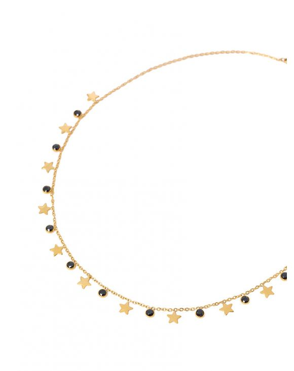 EMMA NECKLACE WITH BLACK ZIRCONS