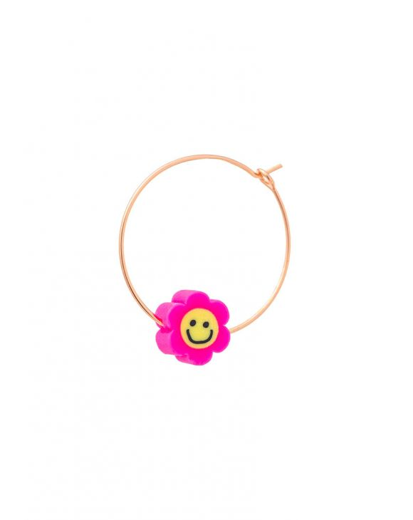 ARYA EARRING WITH PINK SMILING FLOWER
