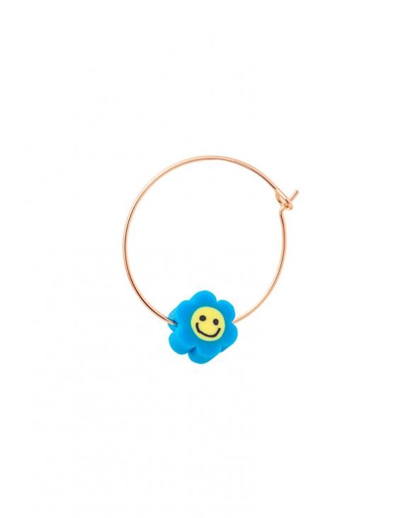 ARYA EARRING WITH BLUE SMILING FLOWER