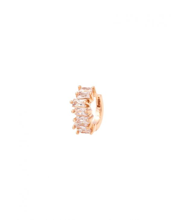ABBY ROSE GOLD EARRING WITH WHITE ZIRCONS