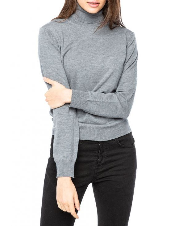 WMN KOROS ROLLNECK SWEATER IN GREY