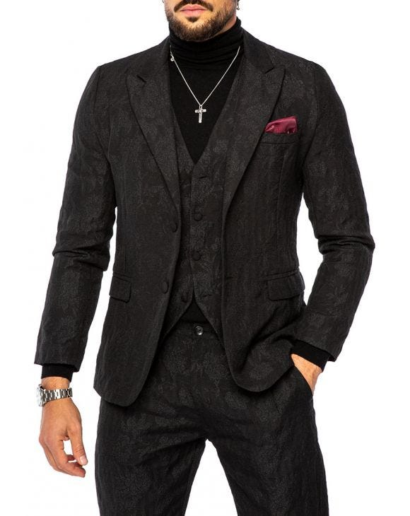 DELFT SMOKING BLAZER IN BLACK