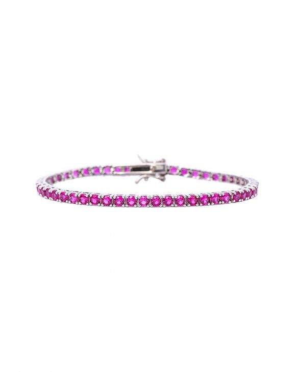 TENNIS BRACELET IN FUCHSIA