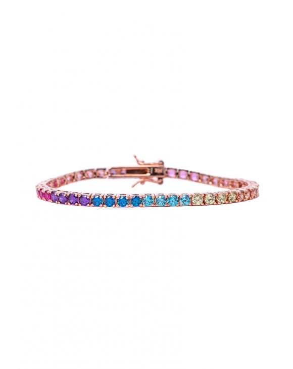 BRACCIALE TENNIS MULTICOLORE