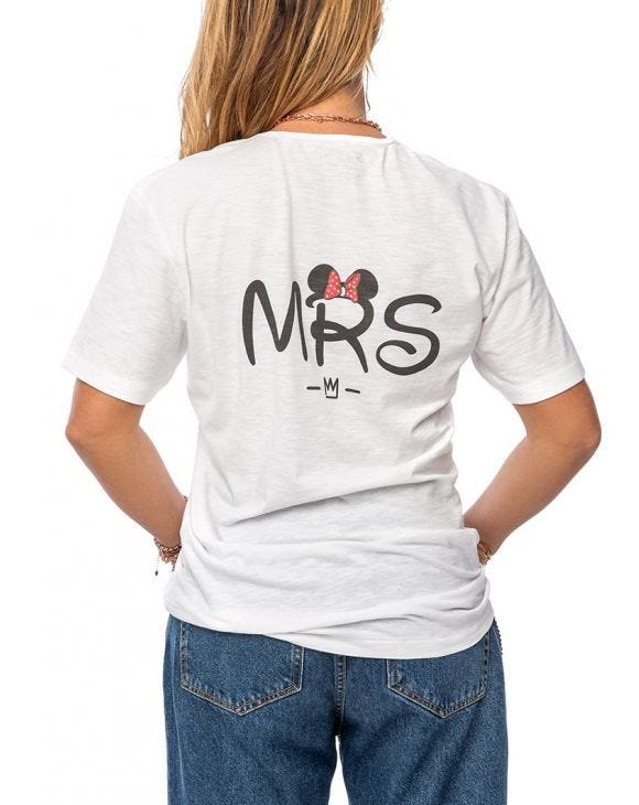 MRS T-SHIRT IN WEISS