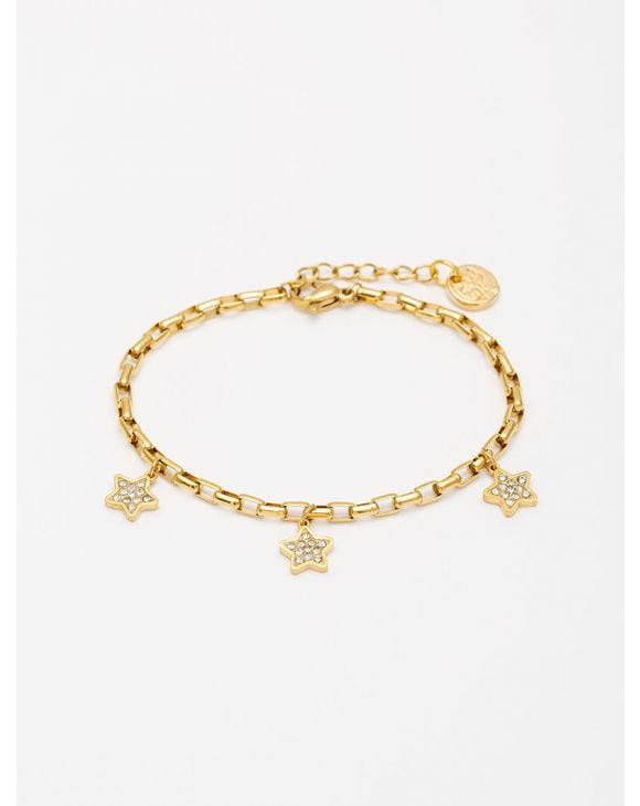GROUMETTE ARMBAND MIT STERNEN IN GOLDFARBE