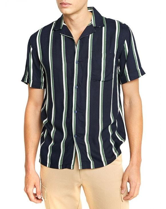 LEO SHIRT IN BLUE AND GREEN