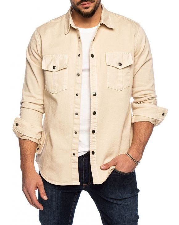 EDAN CASUAL SHIRT IN CREAM