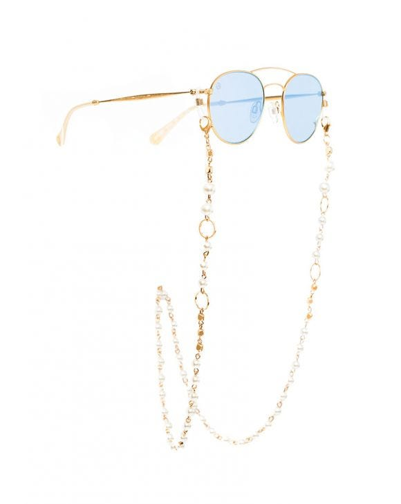 EVIE GLASSES LANYARD WITH PEARLS