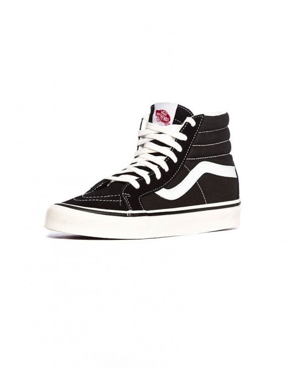 UA SK8-Hi 38 DX SNEAKERS IN BLACK AND WHITE