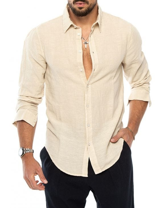 MOSES CAMICIA IN SAFARI BEIGE