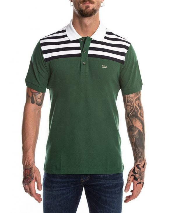 LACOSTE SHORT SLEEVED POLO IN GREEN