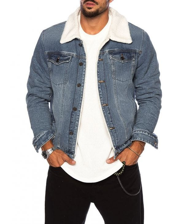 KEN DENIM JACKET IN LIGHT BLUE