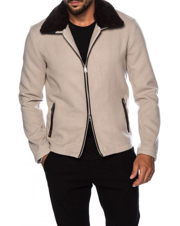 MOD HARRINGTON IN BEIGE