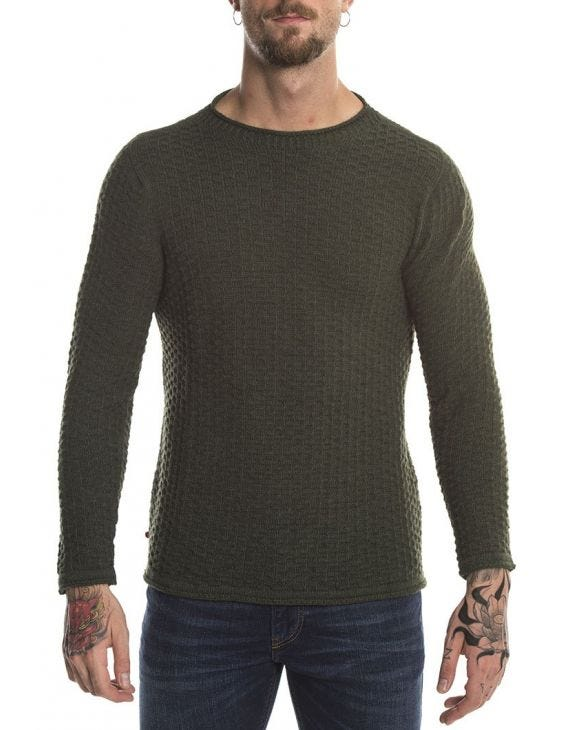 DUNKELGRÜNER SWEATER