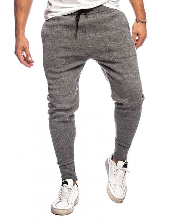 AJAY CASUAL PANTS IN MID GREY