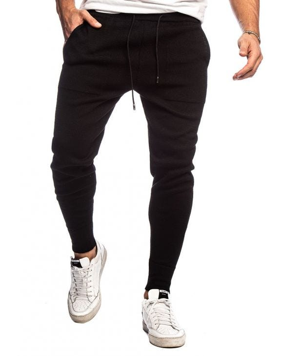 AJAY CASUAL PANTS IN BLACK