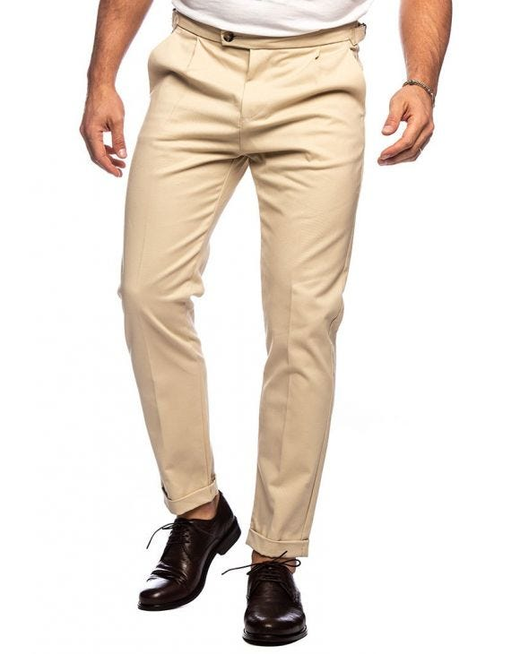 ESMOND FORMAL PANTS IN BEIGE