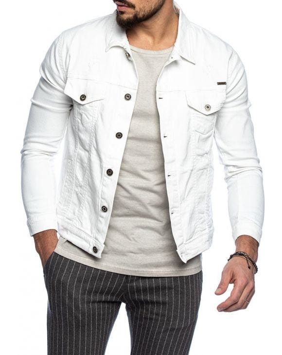 BRIZAN JEANS JACKET IN WHITE