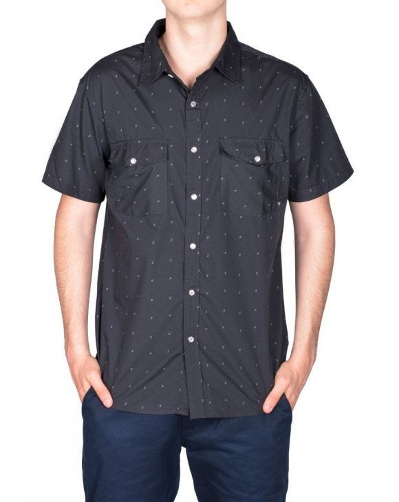 WAYNE SS WVN SHORT SLEEVED SHIRT