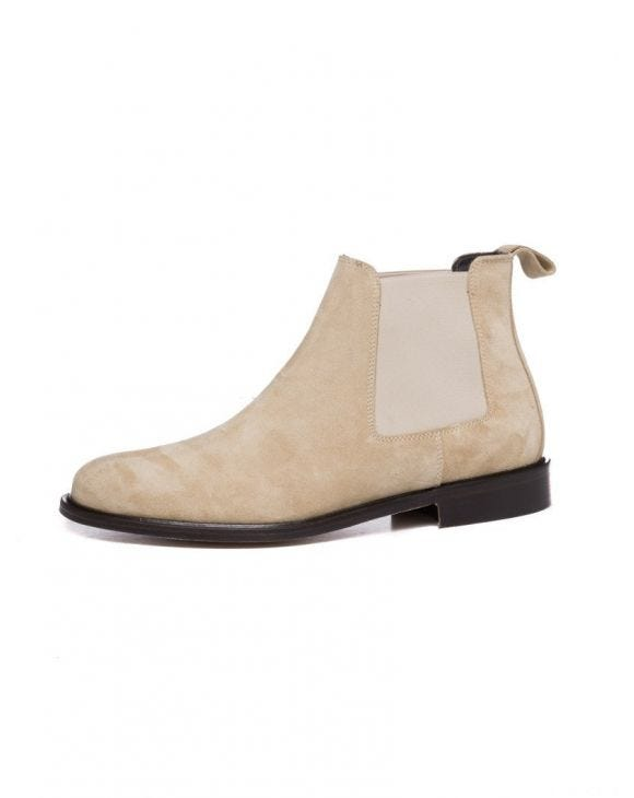 ITALY CHELSEA BOOTS IN BEIGE 2.0