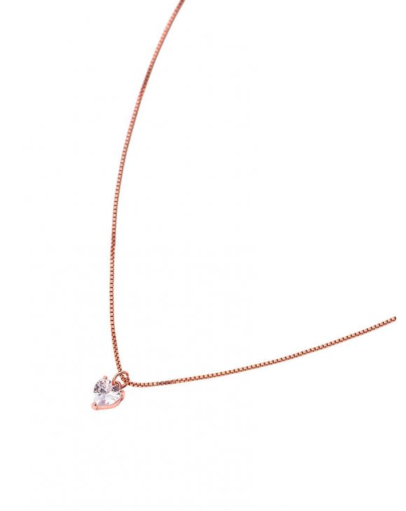 JANE HEART NECKLACE IN WHITE