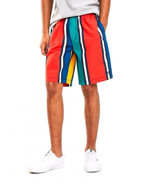 TJM BASKETBALL STRIPED SHORTS IN MULTICOLOR