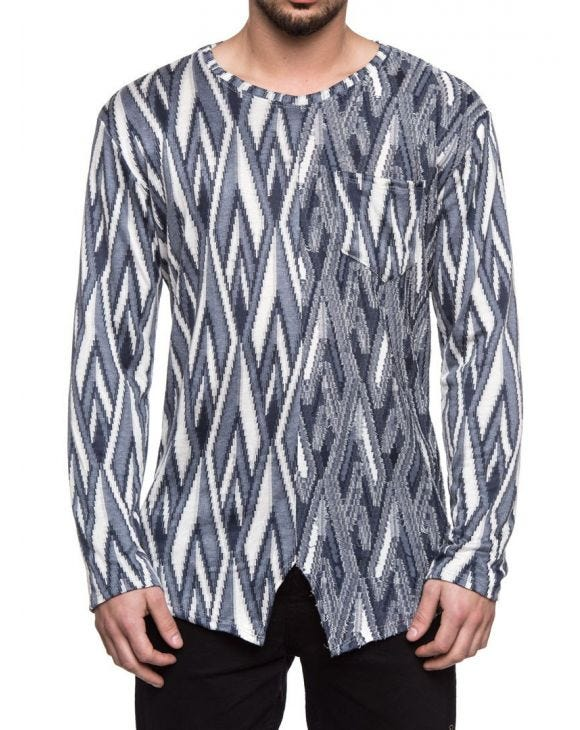 GEOMETRIC LONG SLEEVE T-SHIRT