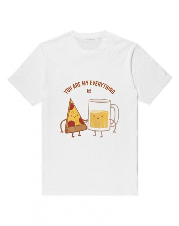 YOU ARE MY EVERYTHING T-SHIRT IN WEISS