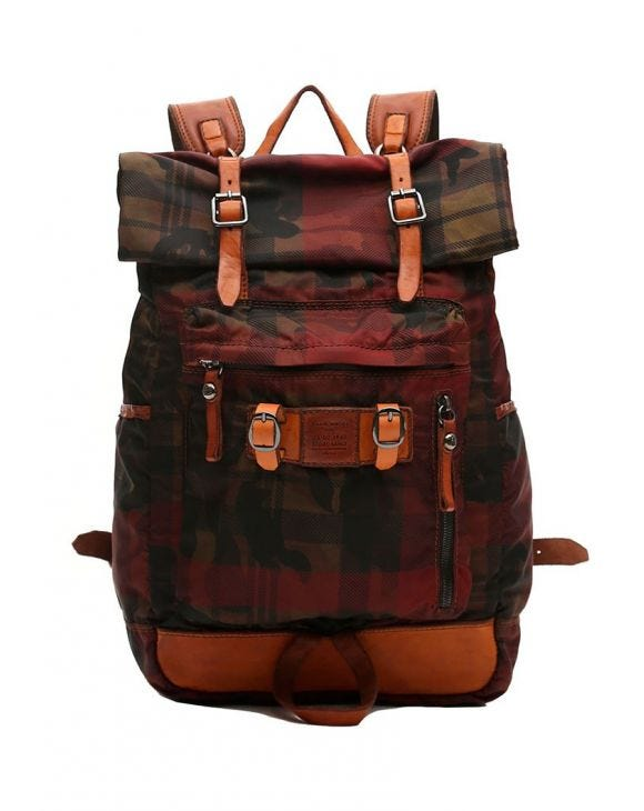 C014 BACKPACK IN RED AND BLACK