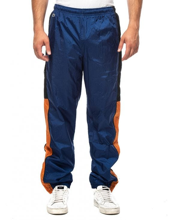 LACOSTE SWEATPANTS IN BLUE AND ORANGE